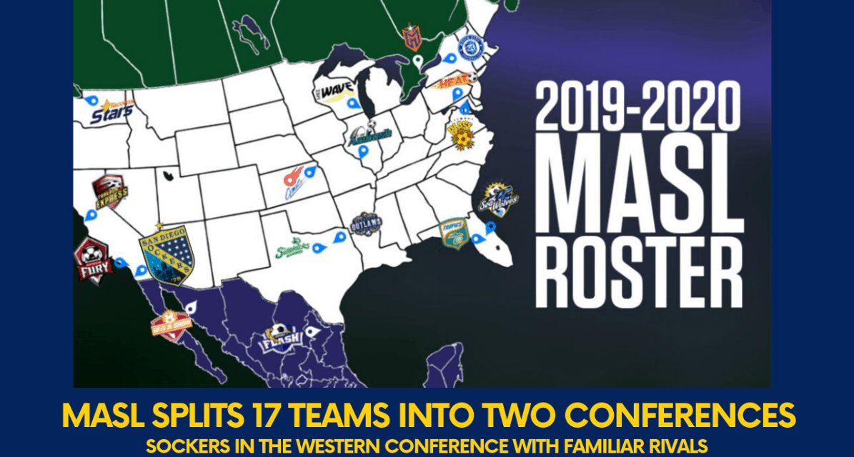 THE ROSTER IS SET: MASL will have 17 teams for its 2019-20 season