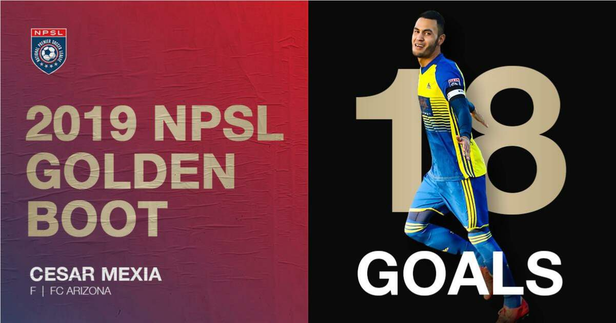 GETTING THE (GOLDEN) BOOT: FC Arizona's Mexia earns NPSL Golden Boot
