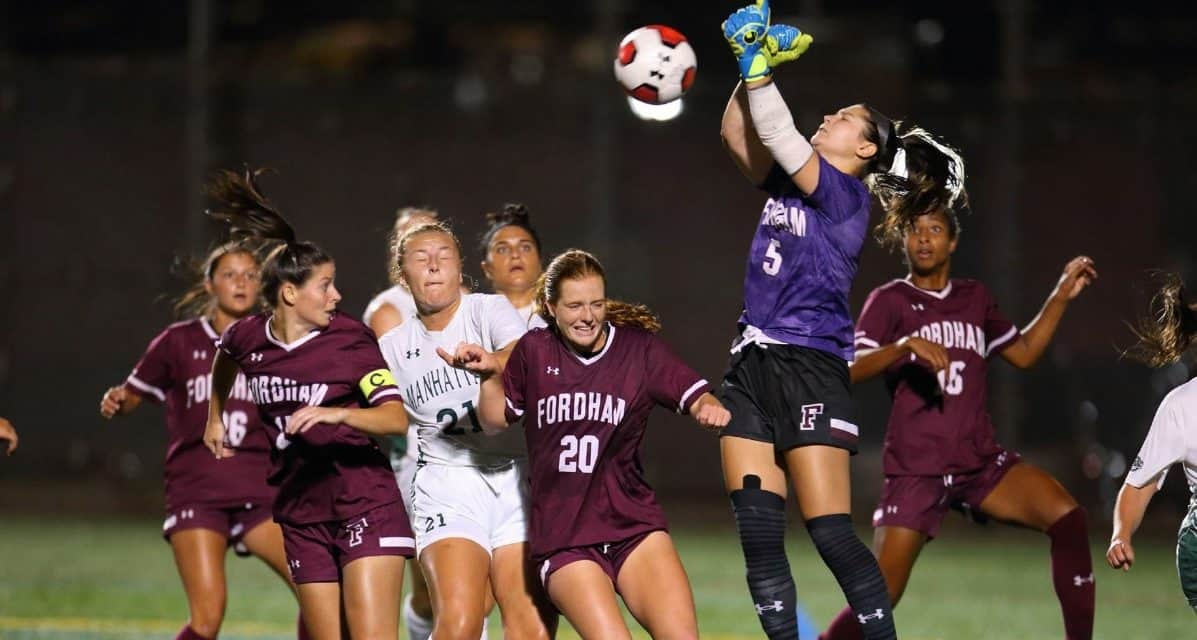 FIRST TIME FOR EVERYTHING: Cocozza's 1st career goal lifts Fordham women