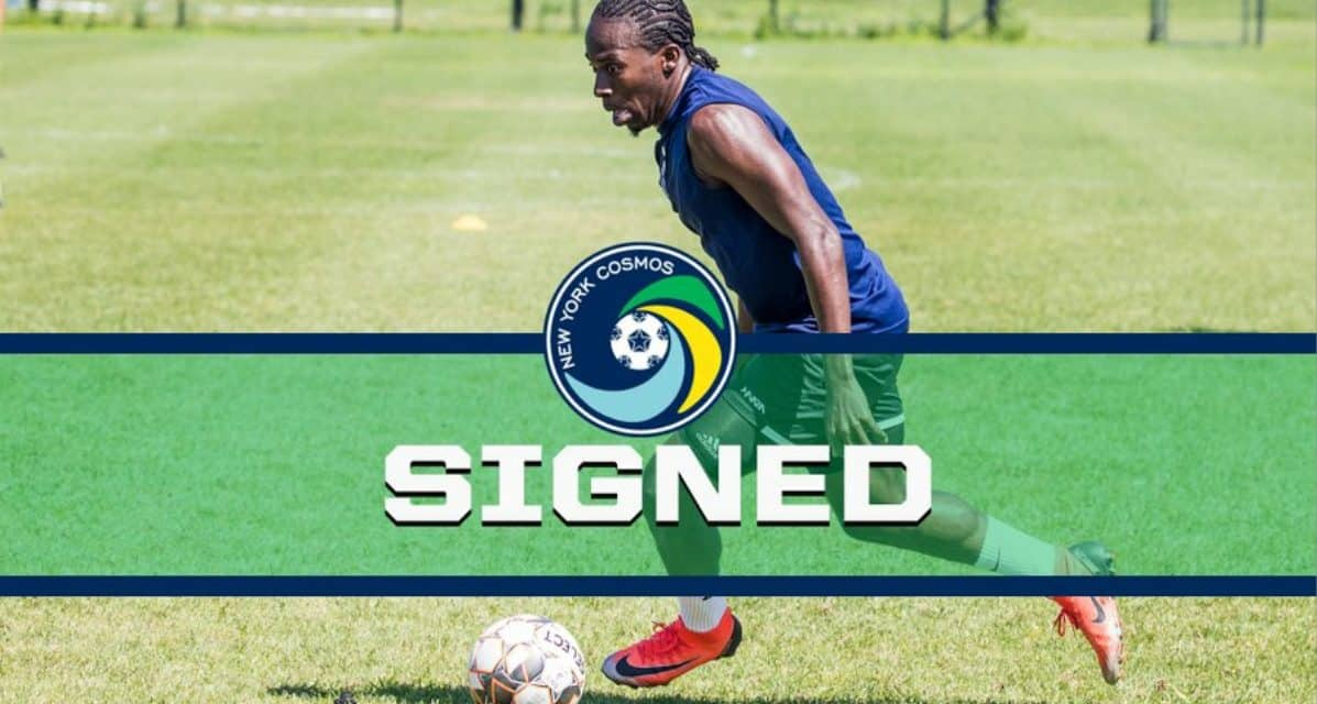 SURPRISE OPPORTUNITY: Shavon John-Brown, playing for Grenada in Nations Cup, gets a chance to play for the Cosmos