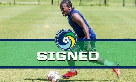 WELCOME ABOARD: Cosmos sign forward John-Brown