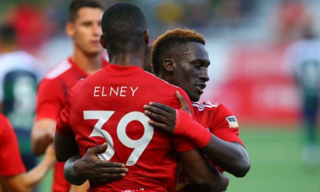 BRACE FOR IT: Elney's 2 goals lift Red Bull II