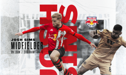 JOSHING AROUND: Red Bulls acquire Sims on loan from Southampton