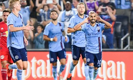 FEELING BLUE IN THE BEST WAY: NYCFC overcomes early deficit to down Red Bulls in Hudson River Derby