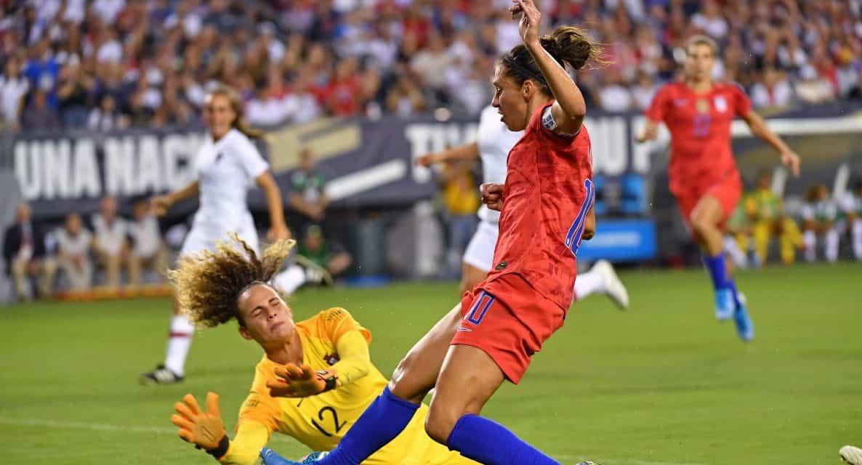 FOUR SCORE: Heath, Brian, Lloyd, Long strike for U.S. women in 4-0 win