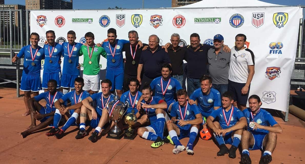 LOFTY GOALS: Rapaglia Cup champion Pancyprians aim for more trophies