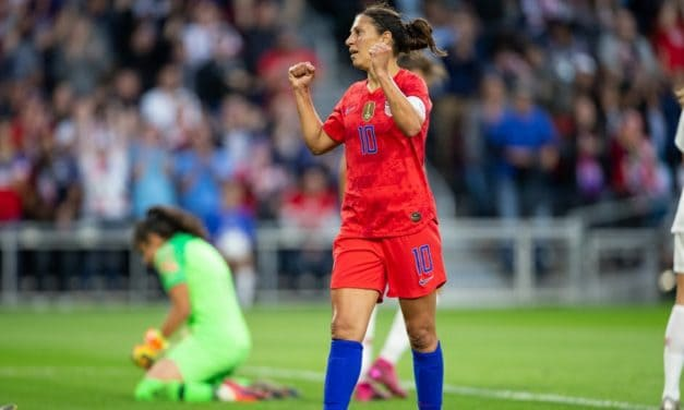 NO STOPPING LLOYD: Forward strikes twice to lead USWNT over Portugal