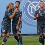 A LITTLE HELP FROM AN UNLIKELY FRIEND: NYCFC overcomes 10-man Revs to climb into first, thanks to VAR, Medina