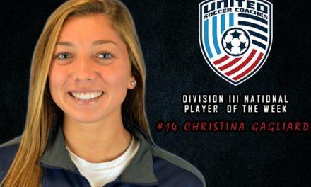 NATIONAL HONORS: St. Joseph's Gagliardi named United Soccer Coaches D-III women's player of the week
