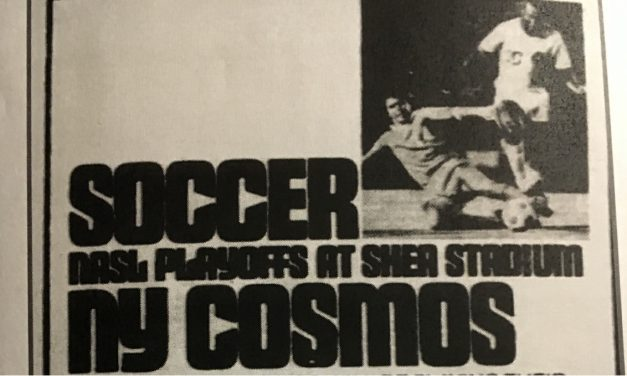 IT'S BEEN DONE BEFORE: Cosmos hosted a playoff game at Shea Stadium in 1976
