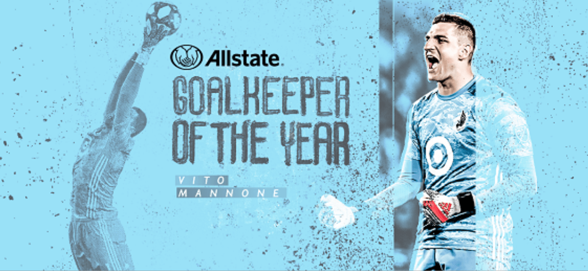HE'S A KEEPER: Minnesota's Mannone MLS goalkeeper of the year