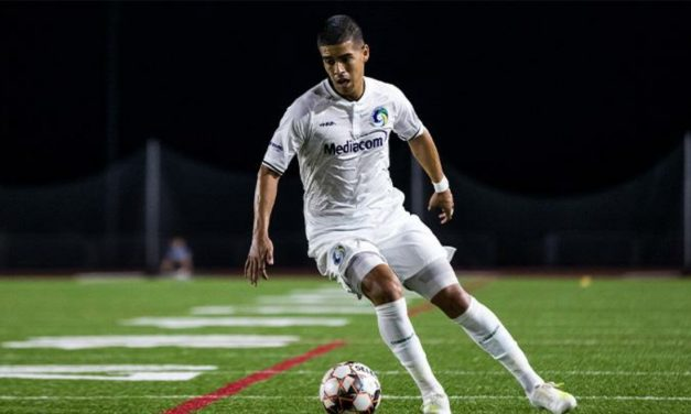 A FINE FINISHING TOUCH TO A SEASON: Burgos does it in triplicate for the Cosmos