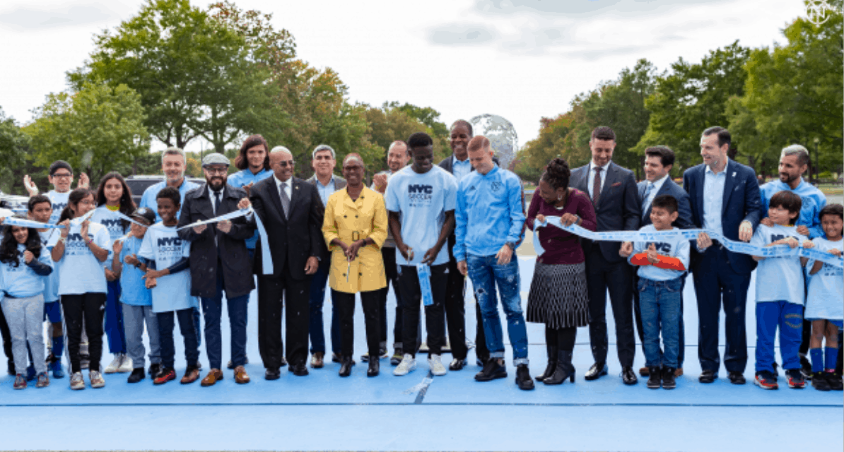MAKING A PITCH: NYCFC unveils a new one at Flushing Meadow