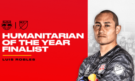 HE'S A FINALIST: Red Bulls' Robles in the running for MLS humanitarian of the year
