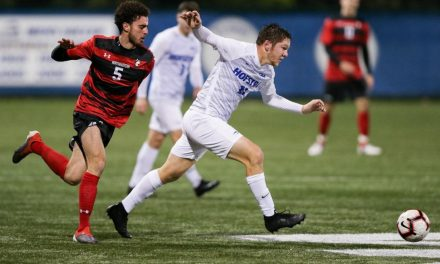 IN THE NICK OF TIME: Vowinkel boosts Hofstra men with late goal to reach CAA semis