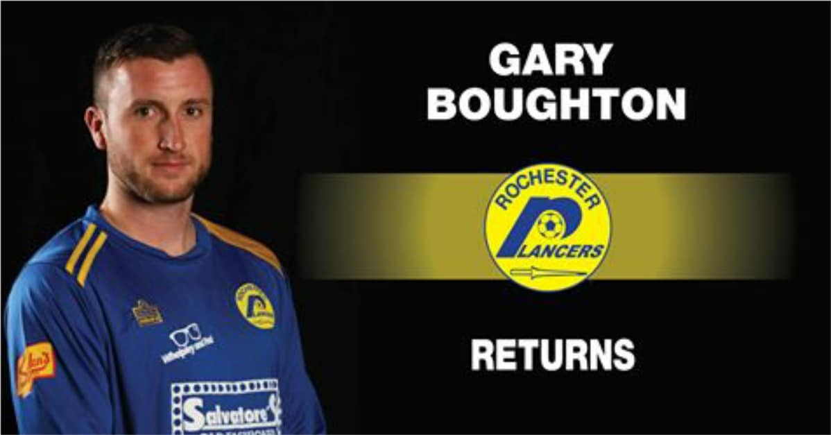 BOUGHTON IS BACK: Forward returns to Lancers for his 6th season