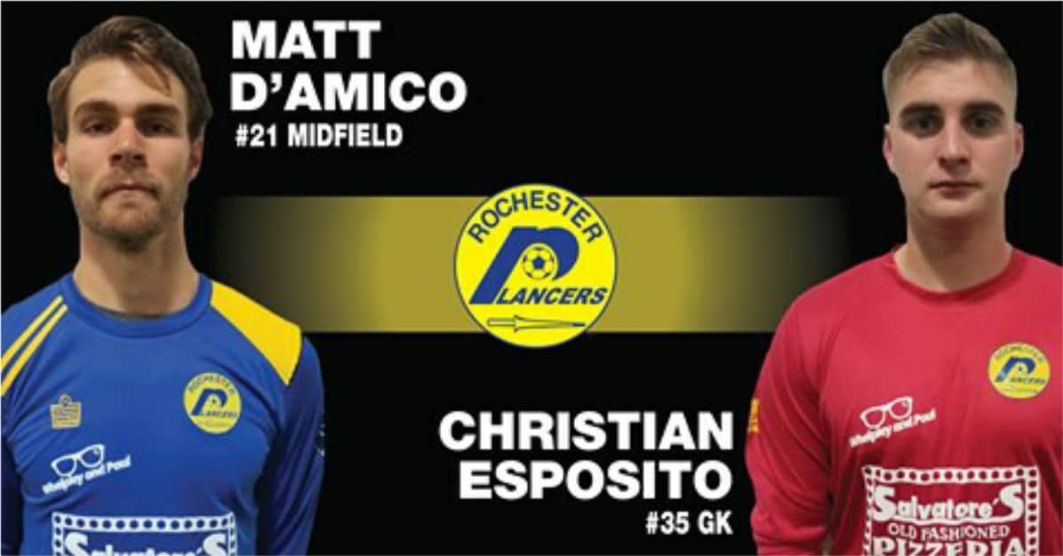 MORE DEPTH: Lancers sign D'Amico, Esposito