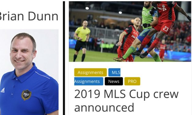 ONE MORE GAME: Dunn named 1st assistant referee for MLS Cup