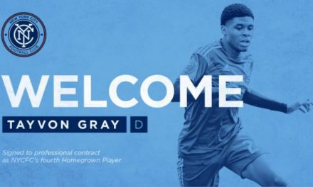 CAN'T GET MUCH CLOSER: Bronx native Gray signs with NYCFC