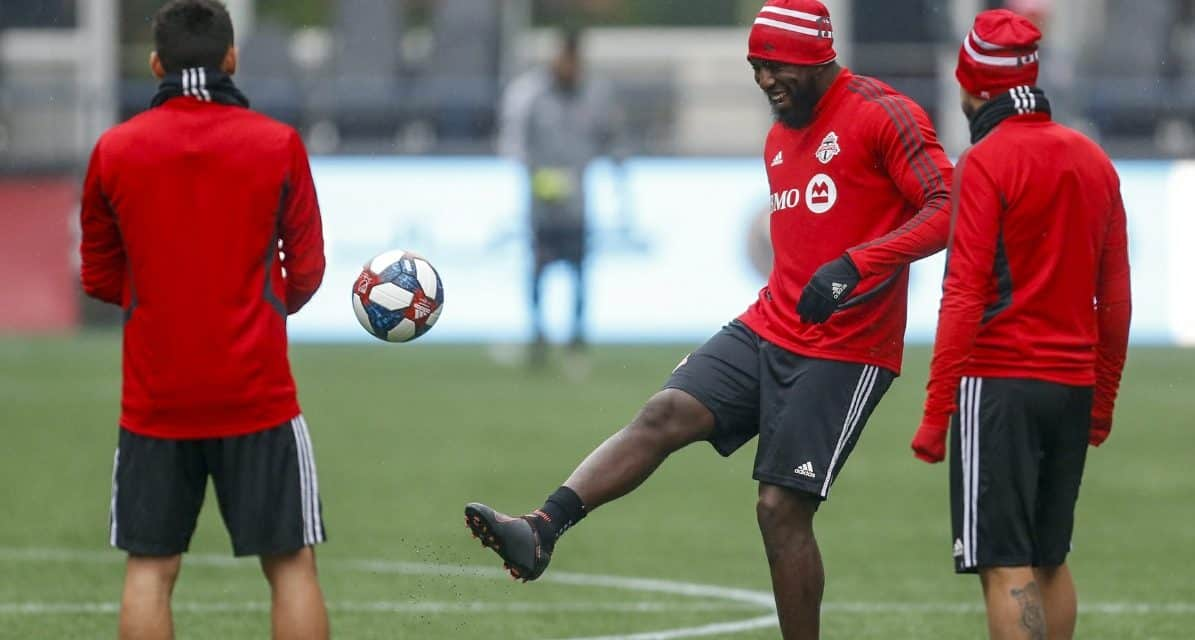 THE DESIRE IS THERE: But will Altidore be fit enough to make an impact for Toronto FC even off the bench?