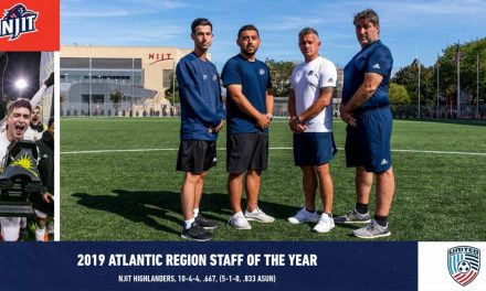 REGIONAL HONORS: NJIT men coaching staff named Atlantic Region staff of the year
