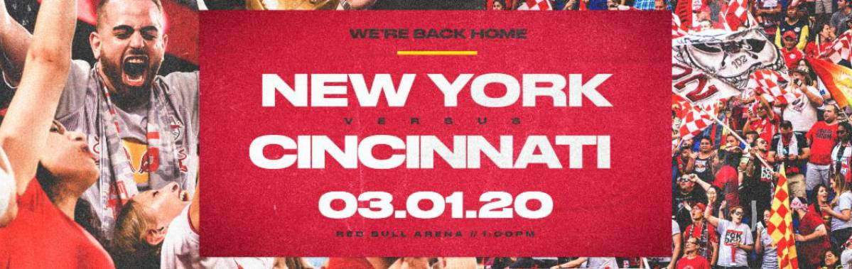 SOME EARLY HOME COOKING: Red Bulls to open 25th season at RBA vs. Cincy March 1