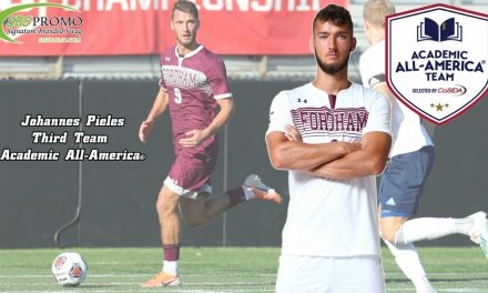 AN ATHLETE AND A SCHOLAR: Fordham's Pieles a CoSIDA Academic All-American