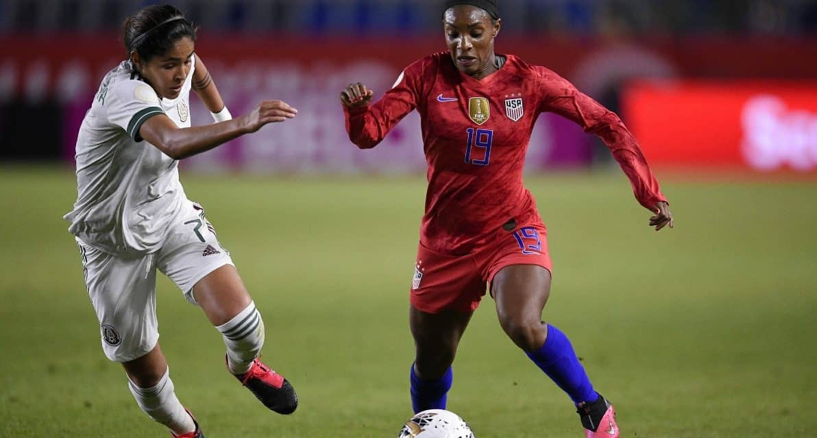TURN OF THE CENTURY: Dunn plays in her 100th international match