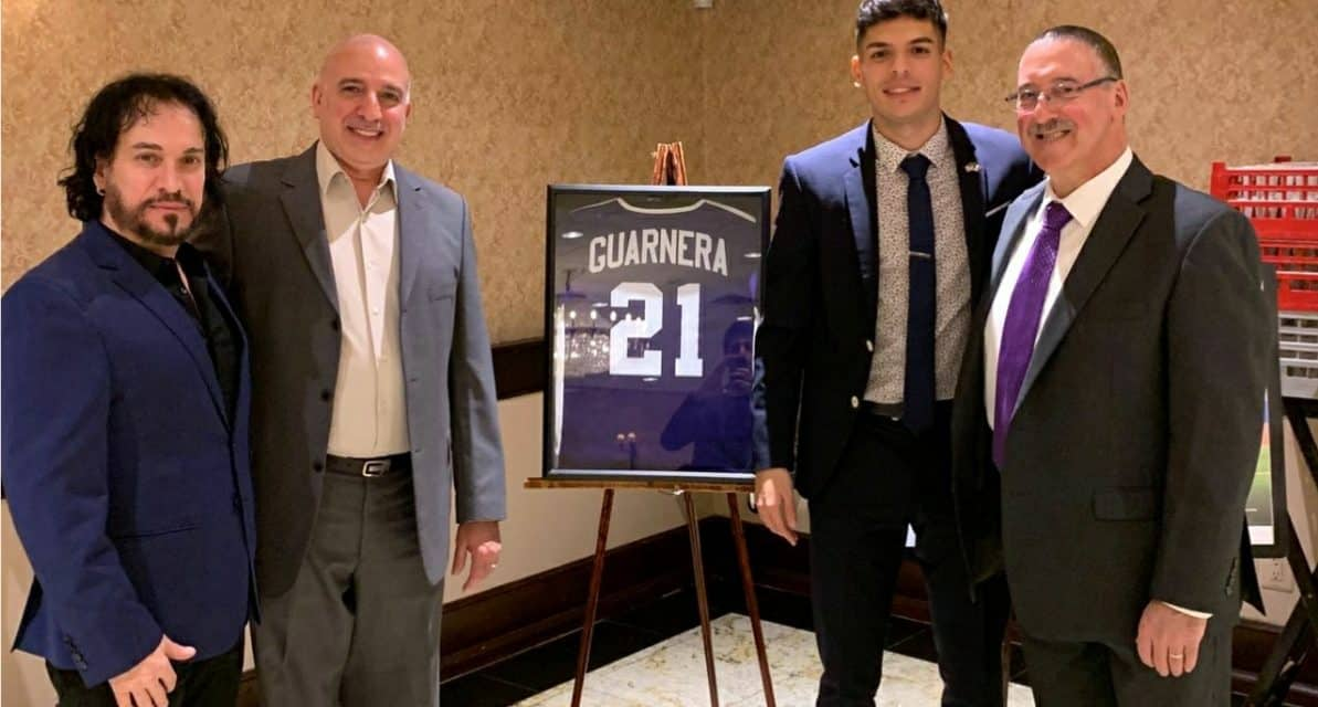 SPECIAL HONOR: Tottenville H.S. retires number of Cosmos defender Guarnera, Jr.