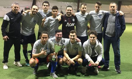 BETTER LATE THAN NEVER: Kosmos equalize on late goal, win LISFL Premier/First Division indoor title on goalkeeper's shootout heroics