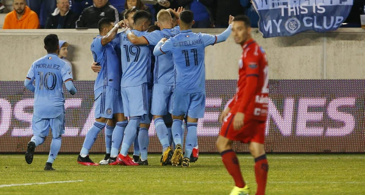 QUARTERFINAL BOUND: NYCFC wins, advances in CCL, in front of a meager crowd at RBA