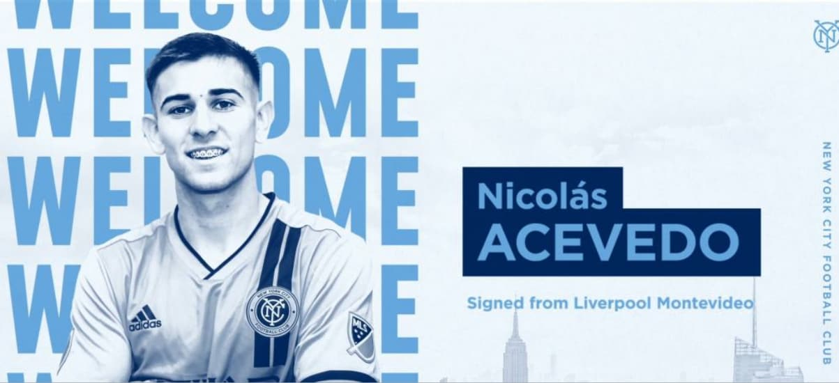 SOME MIDFIELD DEPTH: NYCFC obtains Uruguayan Acevedo on a transfer