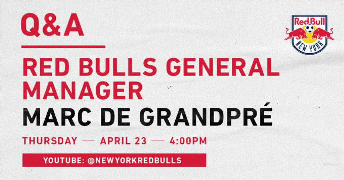 Q&A: With Red Bulls GM de Grandpre Thursday