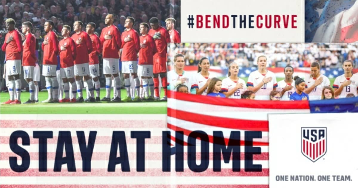 BEND THE CURVE. STAY AT HOME: U.S. Soccer starts pandemic battle campaign