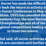 STILL A NO GO: ENYYSA cancels all activities until further notice