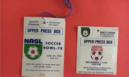 GETTING A PASS (DAY 1): A couple of credentials for a Giant of a stadium