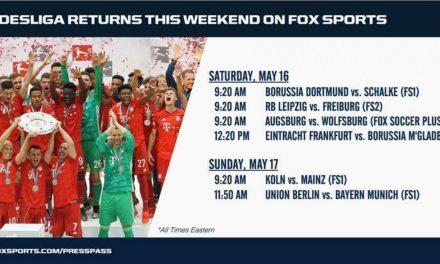 IT'S GIO TIME: FOX to televise Dortmund, Reyna Saturday morning