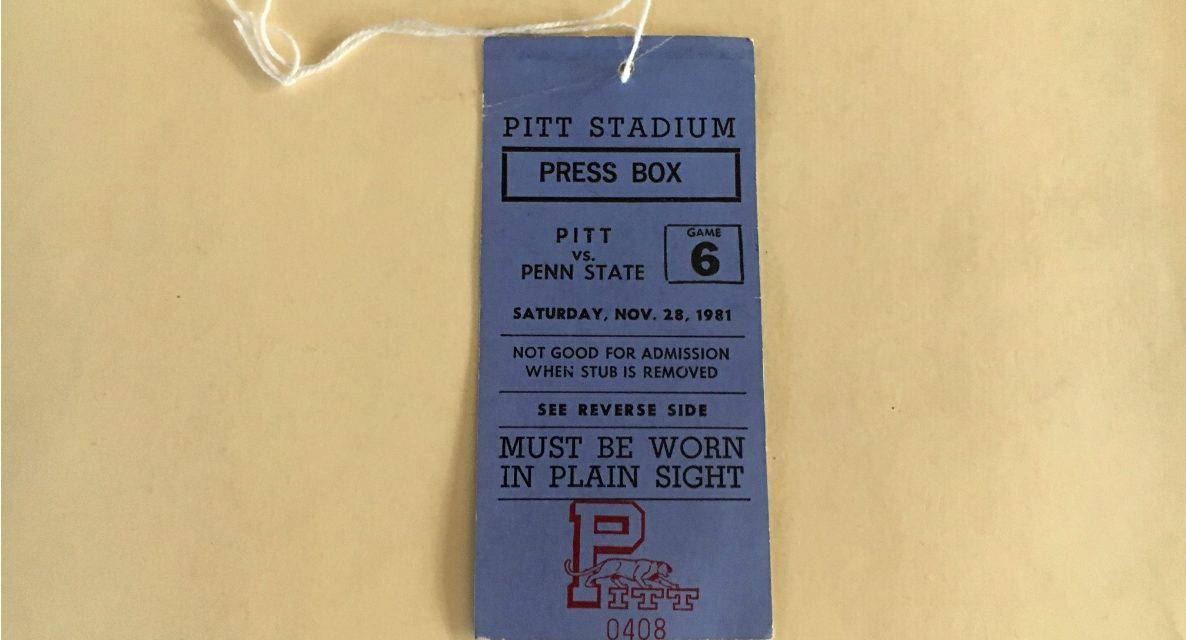 TAKING A PASS (DAY 20): On this day, life certainly wasn't the Pitts for Paterno