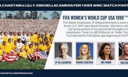 WATCH IT AGAIN: FOX Sports to show 1999 Women's World Cup final