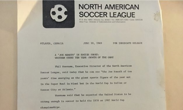OFFSIDE REMARKS: When the NASL's Woosnam sought the Joe Namath of soccer in 1969
