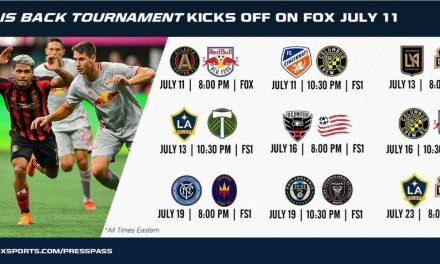 FOX'S MLS IS BACK KICKOFF: Red Bulls vs. Atlanta on July 11
