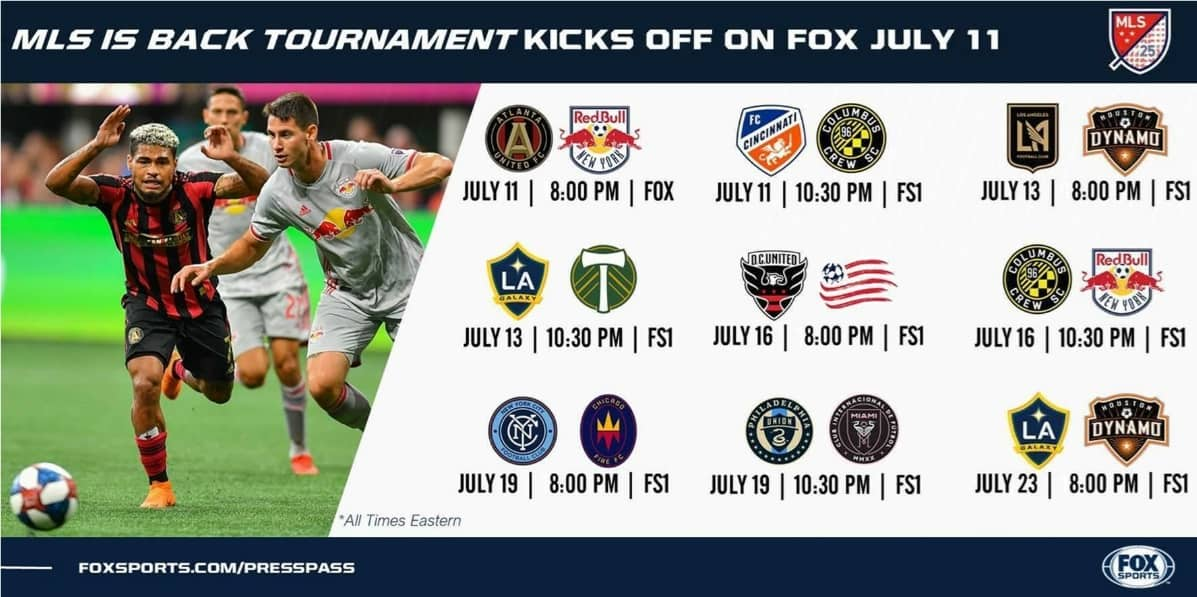 FOX'S MLS IS BACK KICKOFF: Red Bulls vs. Atlanta on July 11