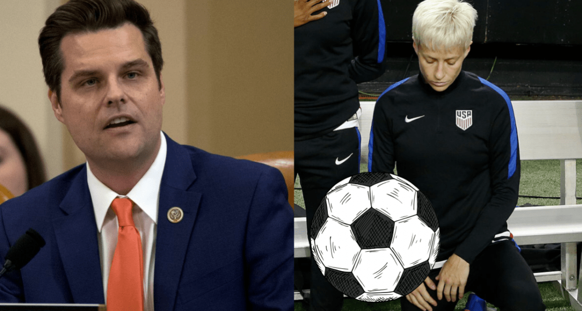 WANTING A REVERSAL OF A REVERSAL: Rep. Gaetz to draft bill requiring U.S. Soccer to return to former national anthem policy or face financial repercussions