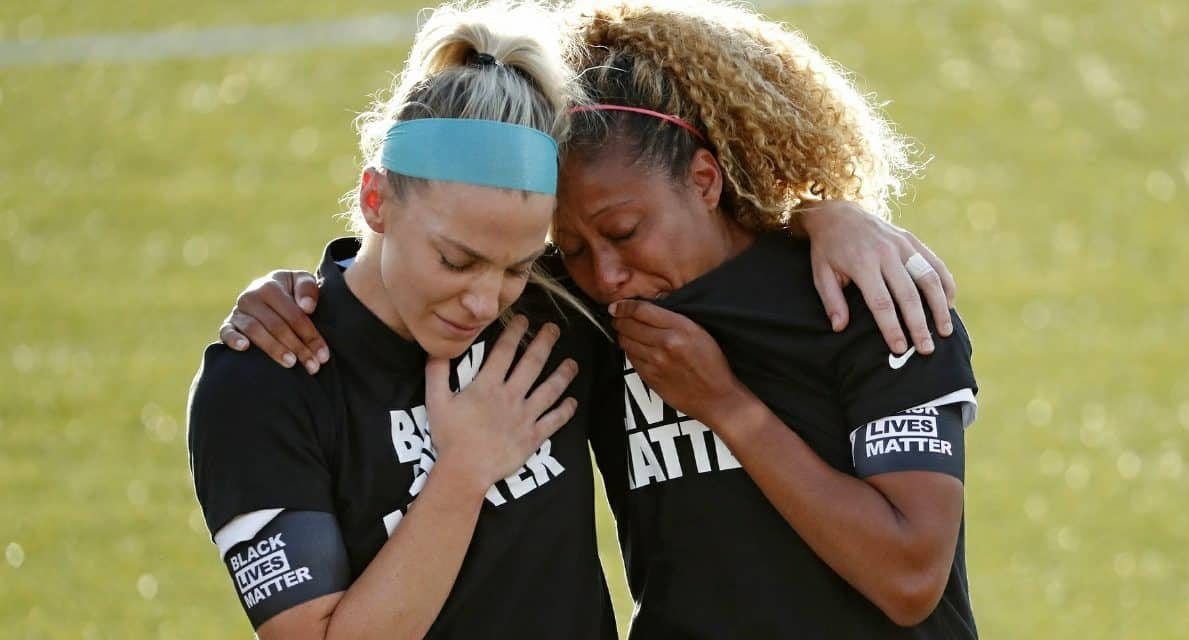 NWSL OPTION: Players can be on the field or in locker room for national anthem