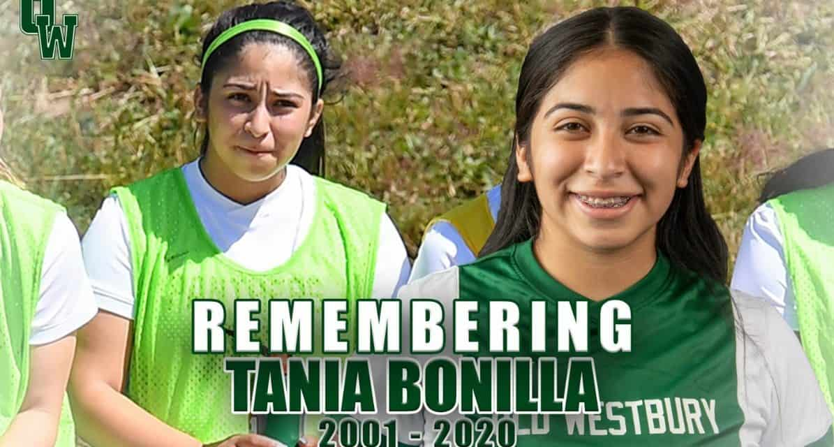 GOODBYE, TANIA: Mourning the death of former Brentwood H.S. and current SUNY-Old Westbury player Bonilla