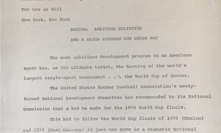 DOING THEIR BIDDING (PART I): When the USA showed interest in hosting the 1978 World Cup