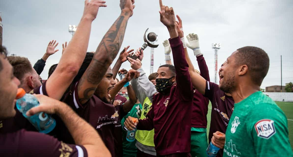 ANOTHER TROPHY: Detroit City FC captures Great Lakes Region of Indy Cup title