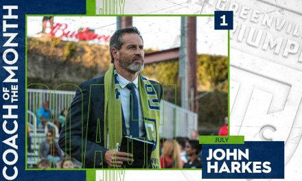 ANOTHER TRIUMPH FOR HARKES: Triumph SC boss named USL League One coach of the month