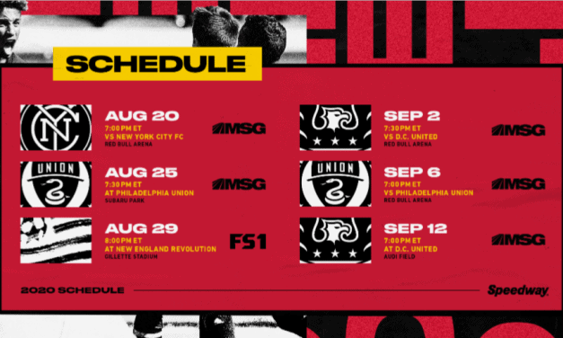 RETURN TO PLAY: Red Bulls host NYCFC in Hudson River Derby Aug. 20