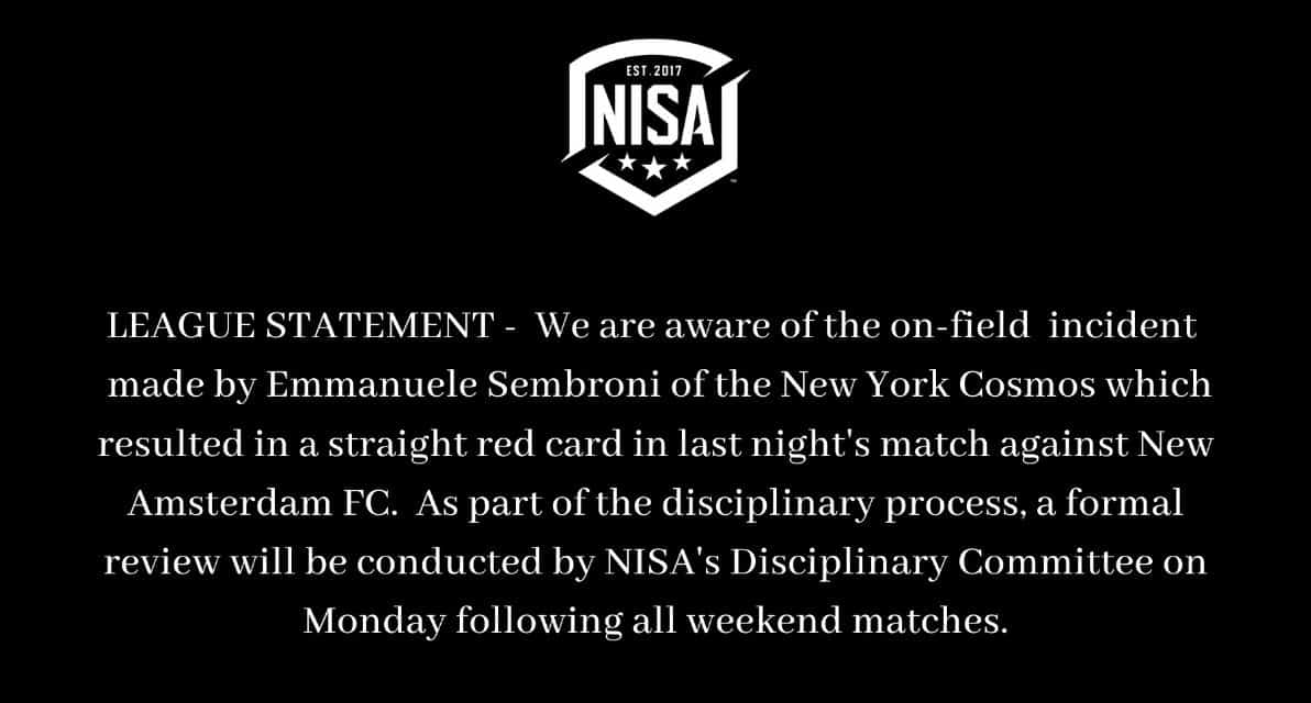 WAIT TIL MONDAY: NISA will review stomping incident after weekend games